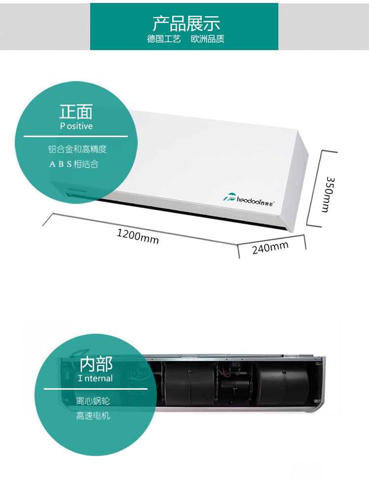大功率热风幕机(安装高度:4米)